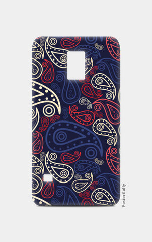 Abstract hand drawn floral illustration on dark Samsung S5 Cases | Artist : Designerchennai