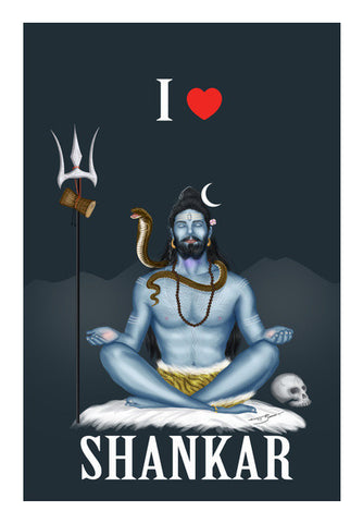Wall Art, I Love Shankar Wall Art | Artist : Puneet Gaur Barnala, - PosterGully