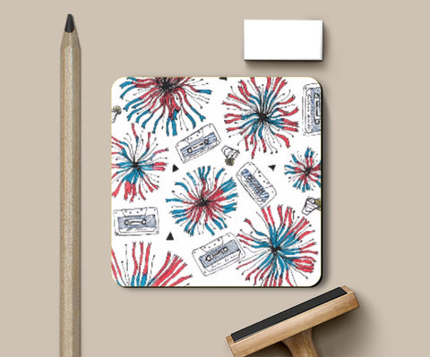 Coasters, Floral Fun Coaster | Artist: Anahat Kaur, - PosterGully