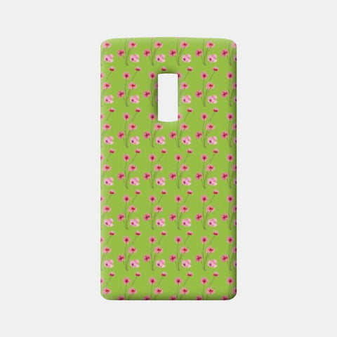 One Plus Two Cases, Lime Green Floral Girly Pattern  One Plus Two Cases | Artist : Seema Hooda, - PosterGully