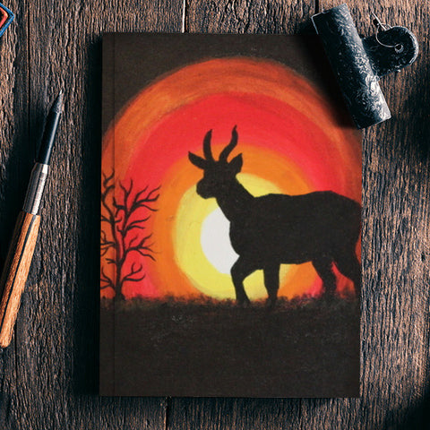 Sunset and Deer Notebook | Artist : Swathy Suren