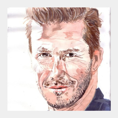 David Beckham Is An Ace Sportstar Square Art Prints PosterGully Specials
