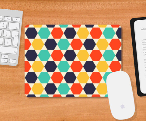 Multi colored repetition shape background Mousepad | Artist : Designerchennai