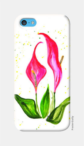iPhone 5c Cases, Pink Floral iPhone 5c Case | Shweta D, - PosterGully