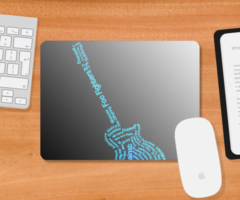 Mousepad, Glowing Guittar Mousepad | Artist : Champa Guchait, - PosterGully