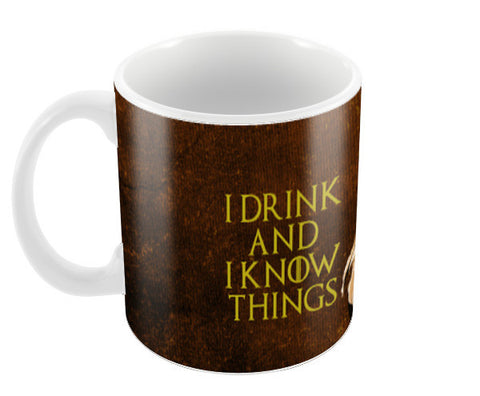Game of Thrones | Tyrion Lannister | I Drink and I Know Things Coffee Mugs | Artist : Vivid Corner