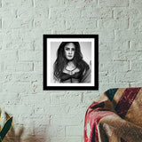 About a girl  Premium Square Italian Wooden Frames | Artist : Chahat Suri