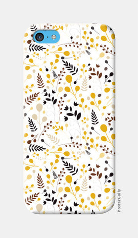 Floral seamless pattern on yellow iPhone 5c Cases | Artist : Designerchennai