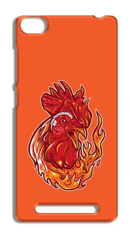 Rooster On Fire Redmi 3 Cases | Artist : Inderpreet Singh