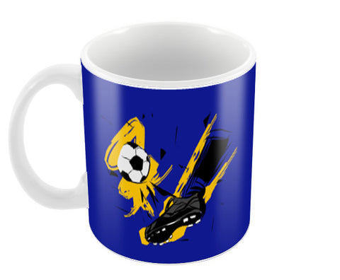 Player Shoes Hitting Football | #Footballfan Coffee Mugs | Artist : Creative DJ