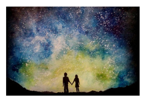 Starry night love Wall Art  | Artist : Sukanya Chakraborty