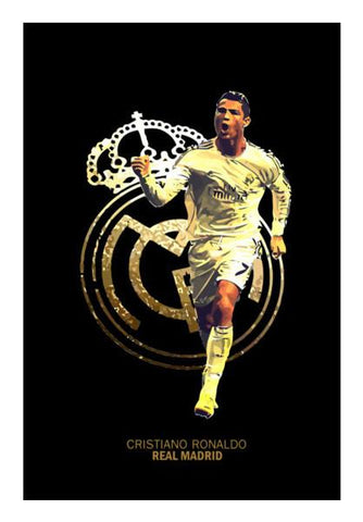 PosterGully Specials, Cristiano Ronaldo | Real Madrid Wall Art | Artist : Syamantak Dubey, - PosterGully