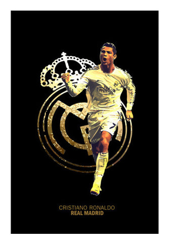 Cristiano Ronaldo | Real Madrid Wall Art | Artist : Syamantak Dubey