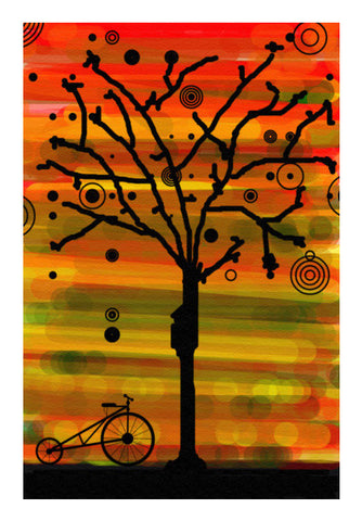 Wall Art, Tree Silhouette Wall Art | Artist : prat, - PosterGully