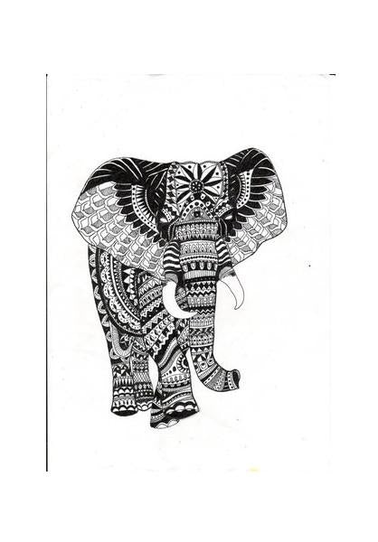 Abstract Elephant Wall Art Postergully Specials