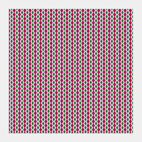 Retro Geometric Pink And Green Diamond Stripes Pattern Square Art Prints PosterGully Specials