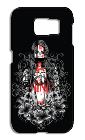 Girl With Tattoo Samsung Galaxy S6 Cases | Artist : Inderpreet Singh