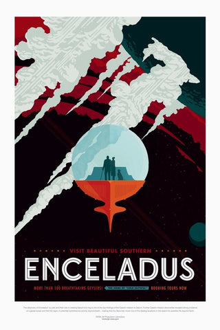 PosterGully Specials, Enceladus | Nasa Posters, - PosterGully