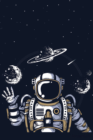 Astronaut In Space Artwork