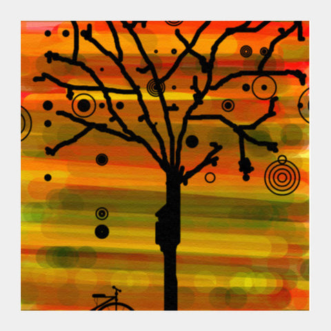 Square Art Prints, Tree Silhouette Square Art Prints | Artist : prat, - PosterGully