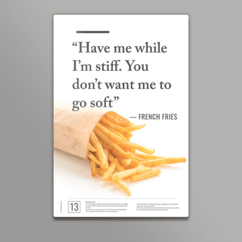 Junk Seduction_French Fries Metal Prints | Artist : Scatterred Partikles
