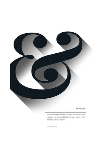 Ampersand black & white Wall Art | Artist : Sabrina Ruiz