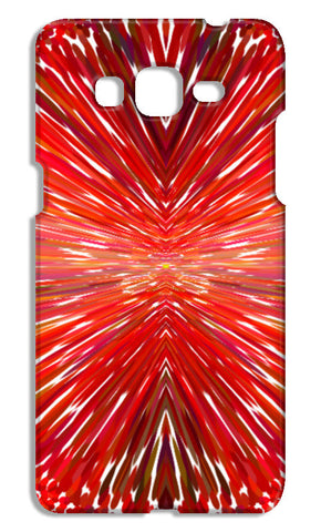 Abstract Red Burst Modern Design Samsung Galaxy Grand Prime Cases | Artist : Seema Hooda