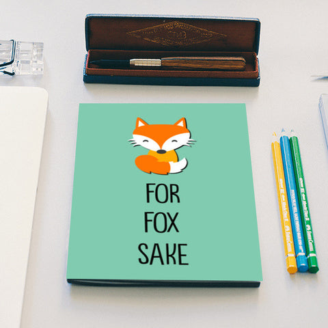 FOR FOX SAKE Notebook | Artist : Manju Nk