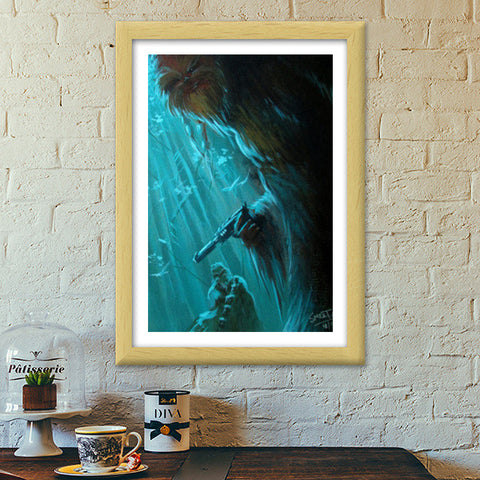 Premium Italian Wooden Frames, Who's Afraid of The Wookie - Painting Premium Italian Wooden Frames | Artist : Smeet Gusani, - PosterGully - 1
