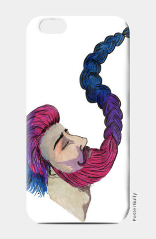 Hipster Beard Man iPhone 6/6S Cases | Artist : An Aliens Art