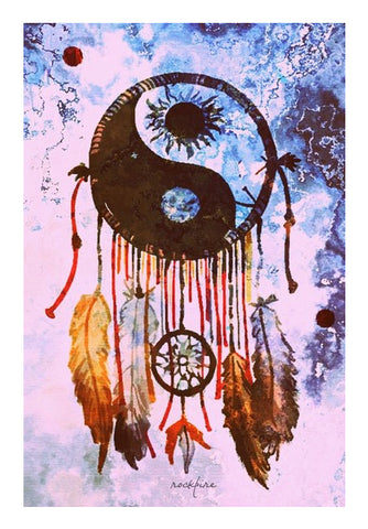 YinYang DreamCatcher Wall Art | Artist : Rockpire Designs