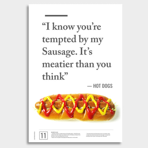 Junk Seduction_HOT DOGS Giant Poster | Artist : Scatterred Partikles