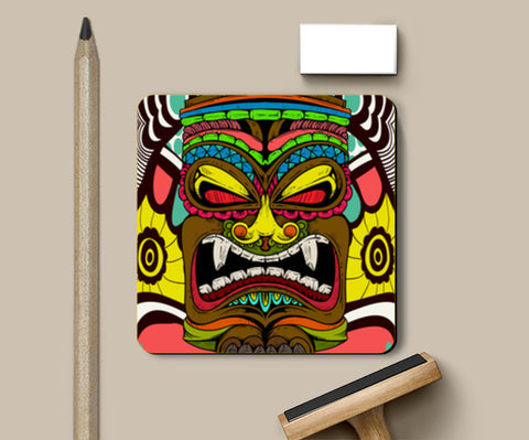 Tiki Monster Coasters | Artist : Pulkit Taneja