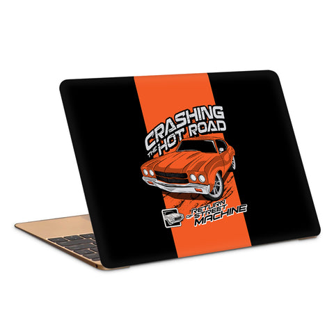 Crashing The Hot Roads Cool Car Artwork Copy Laptop Skin