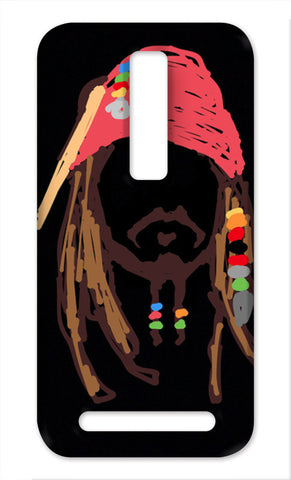 Jack Sparrow, Pirates Of The Caribbean, Minimal, Doodle, Sketch (Movie/Fantasy) Asus Zenfone 2 Cases | Artist : Praband Bhatt