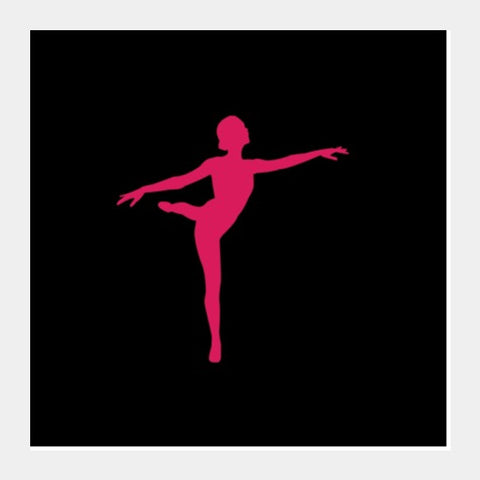 Square Art Prints, SILHOUETTE | DANCE Square Art Prints | Artist : Sonia Punyani, - PosterGully