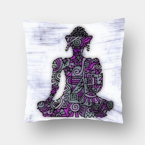 Cushion Covers, Buddha Zenscrawl Cushion Cover | Meghnanimous, - PosterGully