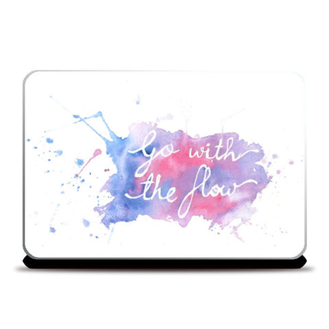 Laptop Skins, Go with the flow Laptop Skins | Artist : Megha Shah, - PosterGully