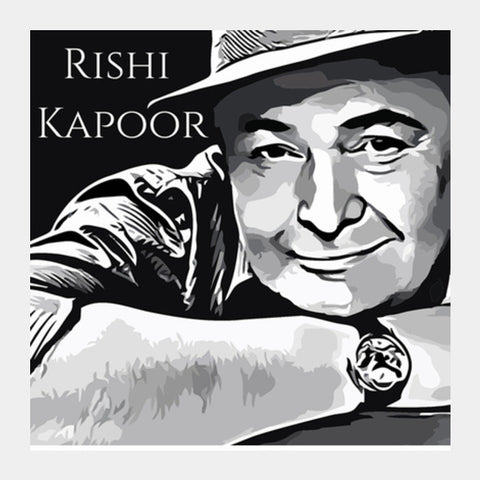 Rishi Kapoor Square Art Prints | Artist : Delusion