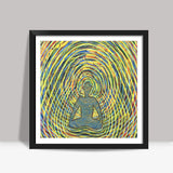 Satchidananda - Blissful Exprience of Pure Consciousness Square Art Prints | Artist : Luke's Art Voyage