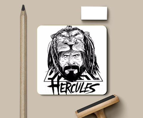 Coasters, Hercules Black and White Coaster | Artist: Sachin Sivakumaran, - PosterGully