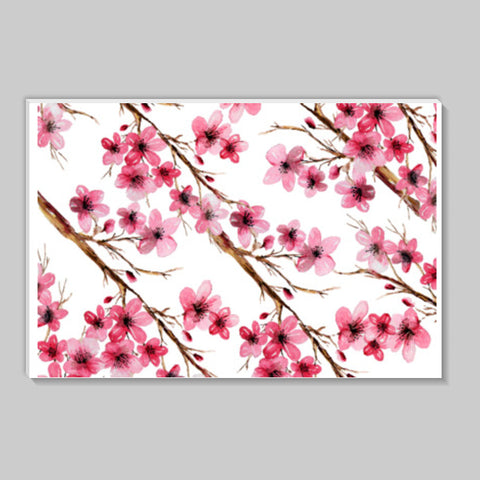 Beautiful Pink Cherry Blossom Floral Branches Spring  Stick Ons | Artist : Seema Hooda