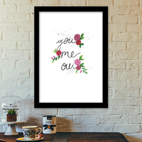You, me, oui Premium Italian Wooden Frames | Artist : Trippy Trap