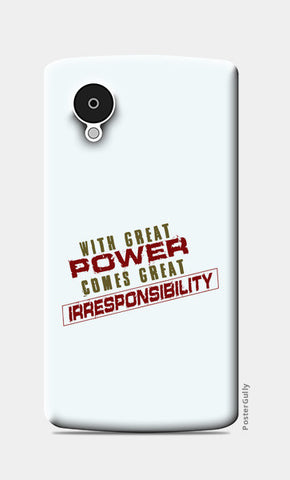 With Great Power Comes? Nexus 5 Cases | Artist : Kaushal Faujdar