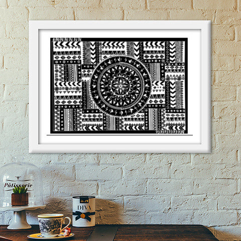 Artistry of Life | Zentangle Art Premium Italian Wooden Frames | Artist : Sriparna Chandra