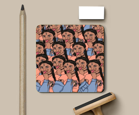 Goddess Kali Collage Coasters | Artist : Priyanka Paul