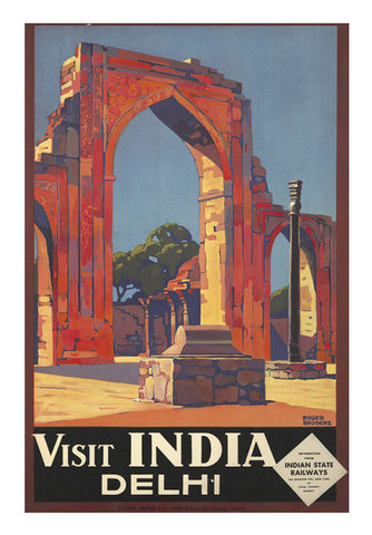 India State Railways Visit India Delhi  Roger Broders Art PosterGully Specials