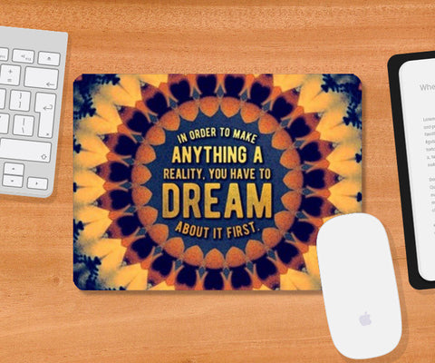 Motivational Quote Mousepad | Artist : Delusion