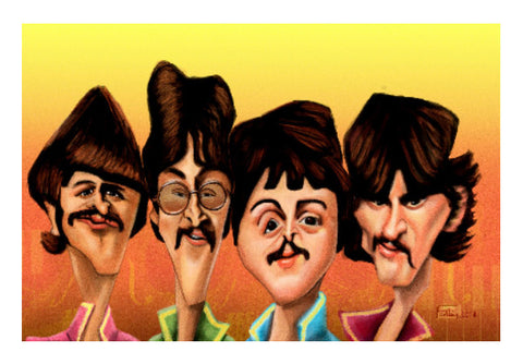 Wall Art, Caricature | The Beatles | Leena Swamy, - PosterGully