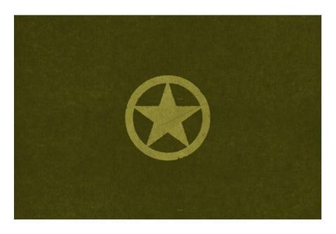 PosterGully Specials, army brave star Wall Art  | Artist : dooo, - PosterGully